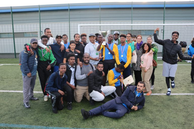 The Peace Cup 2016- The winning team and organisers